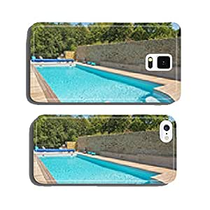 Summer outdoor swimming pool with green trees. cell phone cover case iPhone5