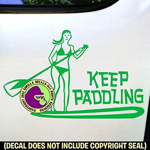KEEP PADDLING Paddle Board Vinyl Decal Sticker B