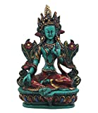 DharmaObjects Large Tibetan Buddhist Green Tara Resin Statue Mother Goddess 6' Tall