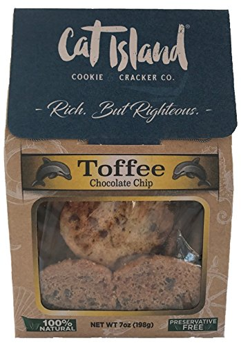 Toffee Chocolate Chip Cookies - 6 oz. Crispy, bite size cookies loaded with rich hand crafted toffee and chocolate chips