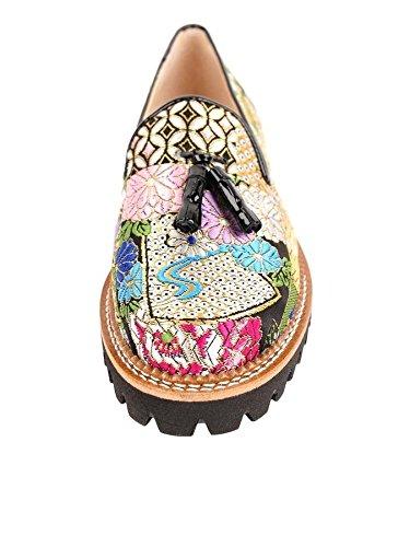 Jon Josef GoGo Lug Rubber Sole Loafer in Damask Floral