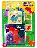 12 Assorted Dinosaur Wooden Stamper Sets