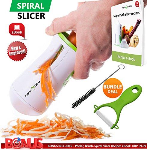 FabQuality-Premium-Espiralizador-vegetal-ESPECIAL-VERANO-Veggetti-espiral-Slicer-Paquete-completo-Bono-Gratis-Cortadora-de-verduras-Zucchini-fideos-Pasta-Spaghetti-mejorado-espiral-Spiralizer-Slicer-M