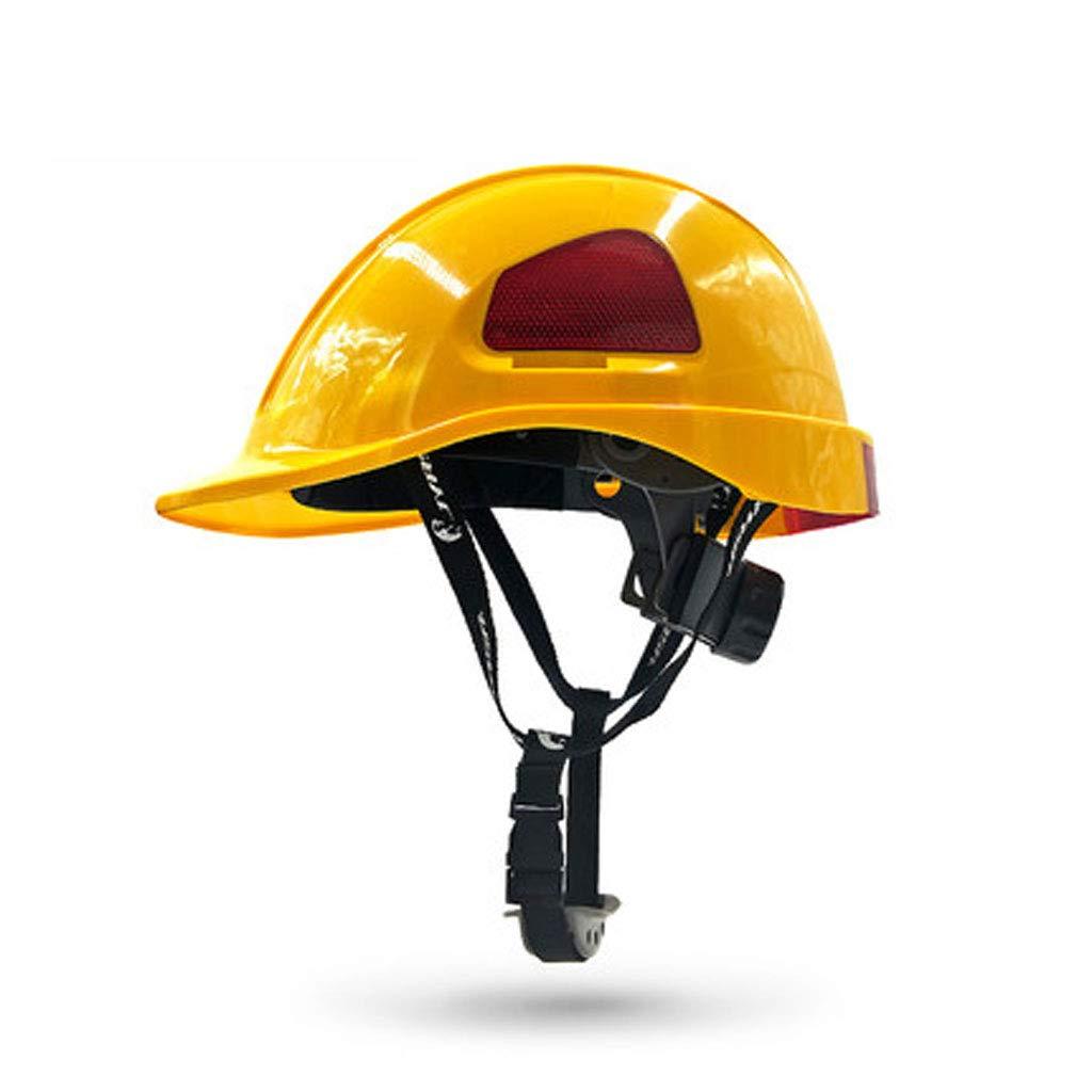 BLWX Zhang Li Hard Hats Engineering Helmet-ABS Construction Anti-Collision Ventilation Cap Labor Insurance Electrician Helmet (Color : Yellow)