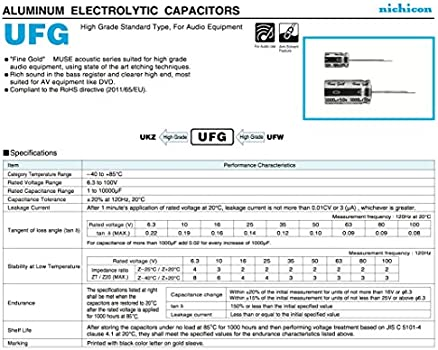 Nichicon Elko  UCS2E100MPD  10uF  250V  10x20mm  RM5  105°  NEW 1 pc