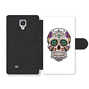 Cool Mexican Sugar Skull Hipster Faux Leather case for Samsung Galaxy S4