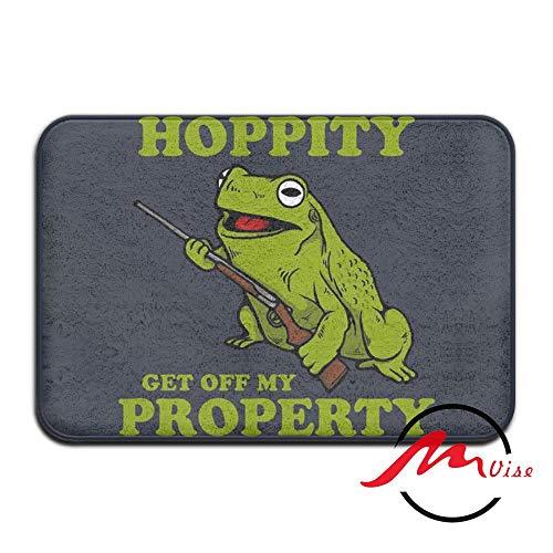 - ZMvise Get Off My Property Frog Non-Slip Bath Shower Area Rug Floor Door Mats Front Entry Carpet Indoor Doormat Outdoor Felt