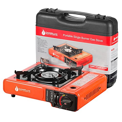 Camplux New Portable Outdoor Camping Butane Gas Stove 8000BTU with Carrying - Gas Cooker Powered