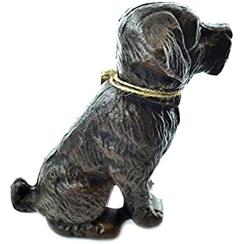 Lulu Decor, Cast Iron Decorative Dog Door Stopper, Doorstops, Sculpture, Dog Statue (Black 9.40 lbs)