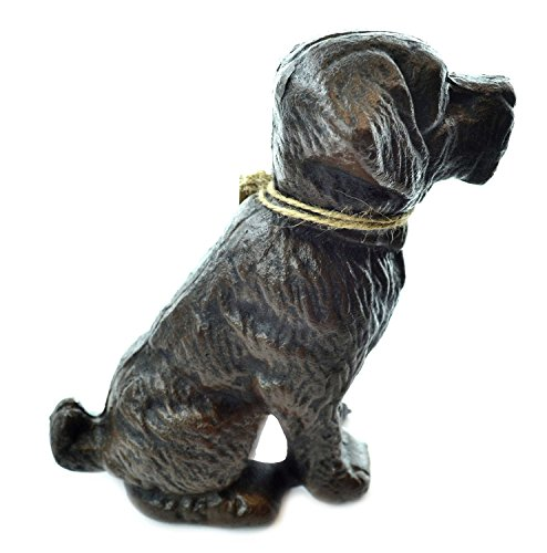 Lulu Decor, Cast Iron Dog Door Stopper, Doorstops, Sculpture, Dog Statue (Black 9.40 lbs)