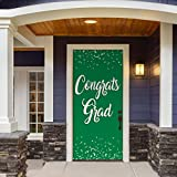 Victory Corps Congrats Grad Green - Outdoor GRADUATION Garage Door Banner Mural Sign Décor 36'' x 80'' One Size Fits All Front Door Car Garage -The Original Holiday Front Door Banner Decor