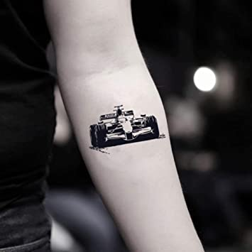 Tatuaje Temporal de Coche de carreras (2 Piezas) - www.ohmytat.com ...