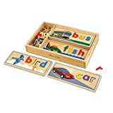 Melissa & Doug See & Spell Learning Toy, Developmental Toys, Wooden Case, Develops Vocabulary and Spelling Skills, 50+ Wooden Pieces, 7.62 cm H x 16.51 cm W x 35.56 cm L