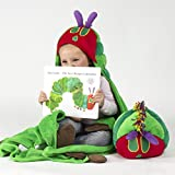 Comfy Critters Stuffed Animal Blanket – The World of Eric Carle, The Very Hungry Caterpillar – Kids Huggable Pillow and Blanket Perfect for Pretend Play, Travel, nap