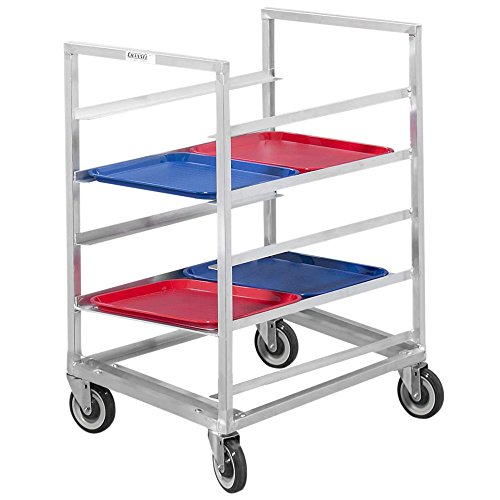 Channel 448A3 10 Tray Bottom Load Aluminum Cafeteria Tray Rack - Assembled by Channel Manufacturing