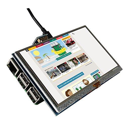 SainSmart 5 inch LCD for Raspberry Pi 3 2 1 Model B+ A+ B 800x480 Touch LCD Screen HDMI Display Module Mini PC by SainSmart (Image #8)