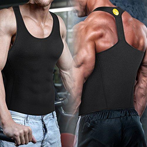 964fbf999 Junlan Men Workout Tank Top Vest Gym Shirt Weight Loss Dress Waist Body  Shaper Sauna Suit