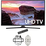 "Samsung 50"" 4K Ultra HD Smart LED TV 2017 Model (UN50MU6300FXZA) with 2x 6ft High Speed HDMI Cable, Screen Cleaner for LED TVs & Transformer Tap USB w/ 6-Outlet Wall Adapter and 2 Ports"