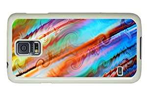 Hipster Samsung Galaxy S5 Case make colorful turbulence PC White for Samsung S5