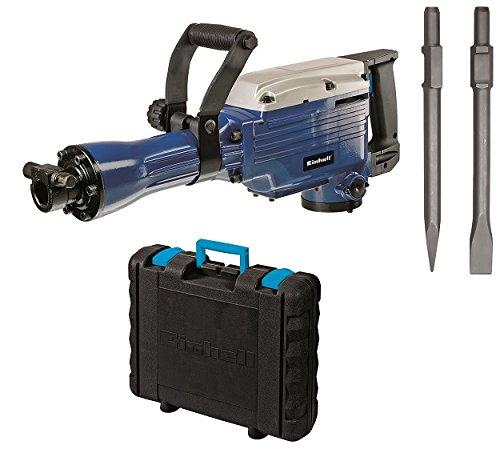 Einhell Abbruchhammer BT-DH 1600/1 (1600 W, 43 J, Sechskant-Aufnahme 30 mm, Flach- und Spitzmeißel, Koffer)
