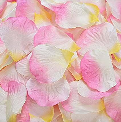 Fabric Silk Flower Rose Petals Wedding Party Decoration Table Confetti Package Of 5000 Pink White Yellow