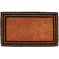 Entryways The One With The Border Hand Woven Coir Doormat, 18 x 30