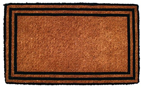 Entryways The One With The Border Hand Woven Coir Doormat, 18″ x 30″