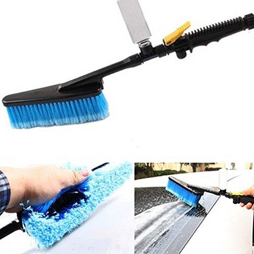 Sedeta Adaptador de manguera de cepillo de lavado de autos Limpiador de agua de lavado de camiones de vehí culo con interruptor de botella