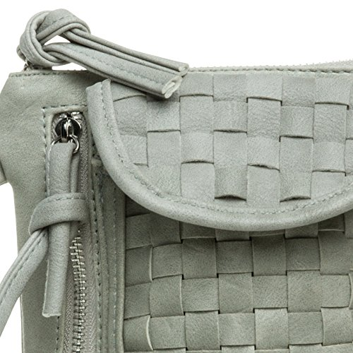 CASPAR Fashion - Cartera de mano para mujer Talla única gris