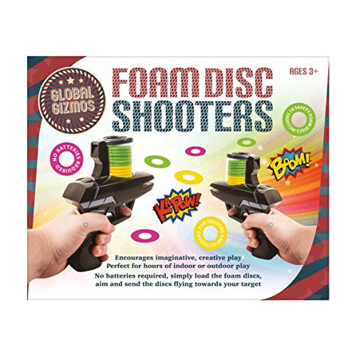 Global Gizmos 50310 Fun Twin Pack of Two Foam Disc Shooters -