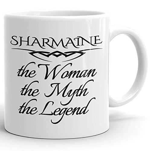 Best Personalized Womens Gift! The Woman the Myth the Legend - Coffee Mug Cup for Mom Girlfriend Wife Grandma Sister in the Morning or the Office - S Set 3
