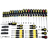 JEGS 69-pc Magnetic Screwdriver set Awls Torx Square Phillips Slotted Bits 80755