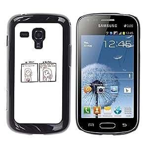 // PHONE CASE GIFT // Duro Estuche protector PC Cáscara Plástico Carcasa Funda Hard Protective Case for Samsung Galaxy S Duos S7562 / Funny - DEAD INSIDE COMIC /