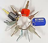 Keyman 10 Heavy Equipment/Construction Keys Set