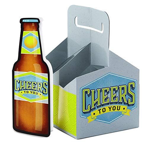 - Hallmark Birthday Card with Beer Caddy (Cheers Beer Holder)