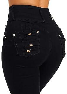 ModaXpressOnline Butt Lifting Ultra High Waisted Skinny Leg Colombian Design Denim Jeans 10914L