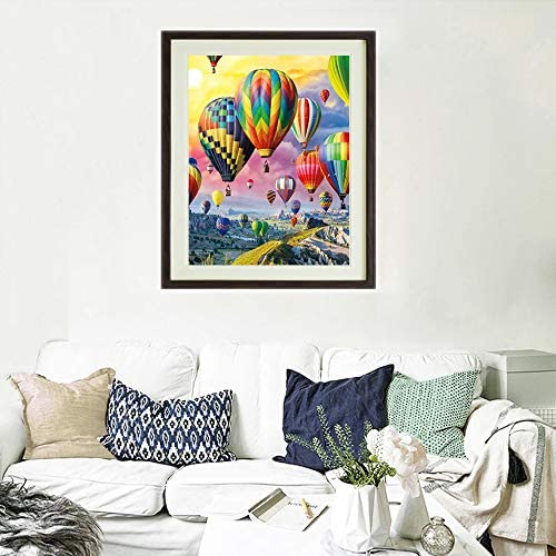 """Katosca DIY Paint by Numbers Acrylic Painting Kit for Kids /& Adults 16/"""" x 20/"""" Arts Craft for Home Wall Decor with 3 Brushes /& Bright Colors Hot Air Balloon"""