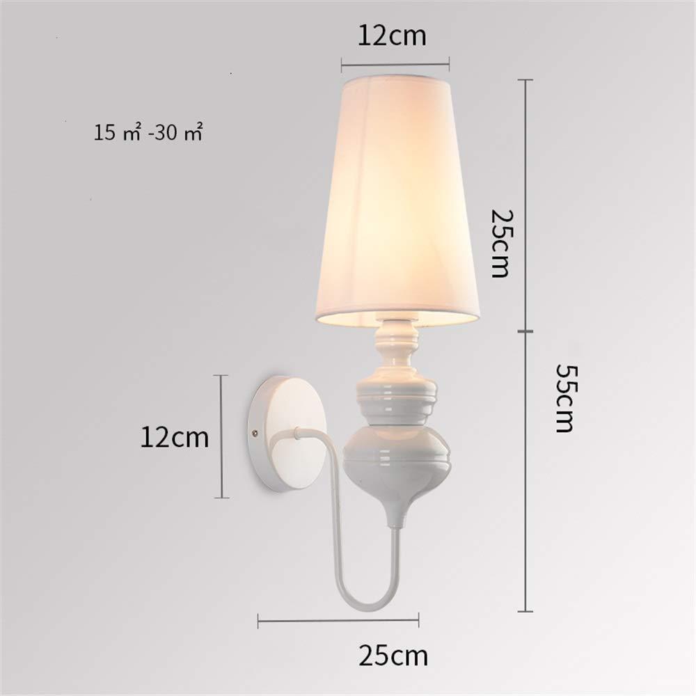 現代の壁ランプ, ウォールランプ現代のミニマリストの寝室のベッドサイドランプクリエイティブパーソナリティホテルの部屋階段ランプ通路通路リビングルームの照明 ベッドルームベッドサイドランプ (色 : 白, 形状 : 25*55*12cm) 25*55*12cm 白 B07TB31RM8