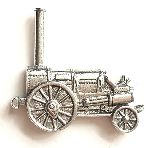 Fine Pewter The Rocket Steam Engine Pin Badge with Gift Pouch