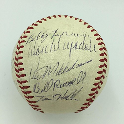 Nice 1969 Los Angeles Dodgers Team Signed Baseball Don Drysdale COA - JSA Certified - Autographed Baseballs Autographed 1969 Team Mlb Baseball