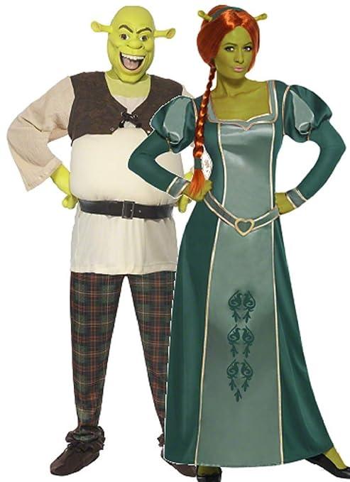Fancy Me Par Hombre y Mujer DreamWorks Shrek y Fiona Halloween película Comic de Figuras Disfraz
