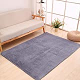 GuyizhaI163 YING LAN Cozy Home Living Room Square Floor Mat Cover Carpet Area Rug Pad 31.5'' 47'' Gray