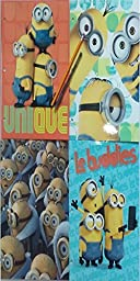 Back to School Minions Folders - 4 Pack - Binder Ready- Colorful Durable Organizer - Great To Store Files for Homework Classwork Presentations - Great School Supplies For Kids Teenage Students Etc