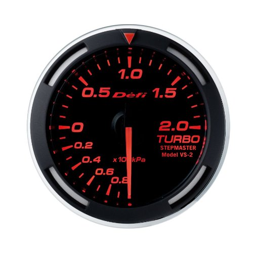 Defi DF06505 Racing Boost Gauge, Red: