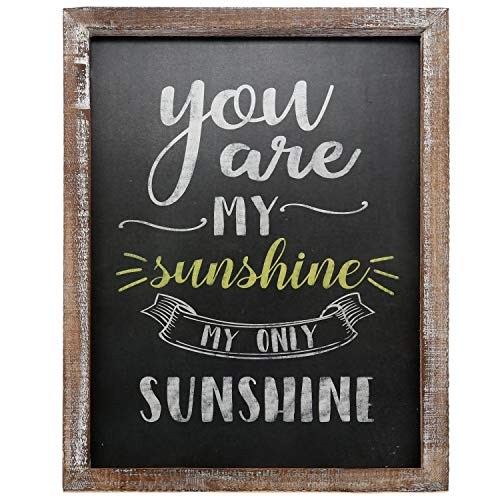 "Barnyard Designs You are My Sunshine Wall Art Wood Chalkboard Sign Rustic Vintage Primitive Country Home Decor 15.75"" x 11.75"" from Barnyard Designs"