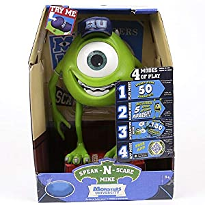 1 piece Monsters Inc Monsters University Mike Wazowski/Squishy Speak N Scare PVC Figure Toy Gift for Kids Children 25cm