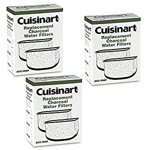 Cuisinart DCC-RWF *Triple Pack* Charcoal Water Filters in Cuisinart DCC-RWF Retail Box