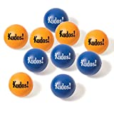Foam Kudos Stress Ball - Set of 10 Squeeze Balls w/ Storage Bag For Workplace