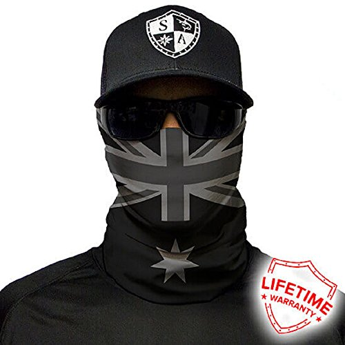 Salt Armour Face Mask Shield Protective Balaclava Bandana Microfiber Tube Neck Warmer (Blackout Australia - Australia Face Fashion