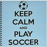 EvaDane - citas divertidas - mantener calma y juego de fútbol, azul - libro de dibujo
